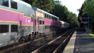 Boston MBTA Purple Line Commuter Trains