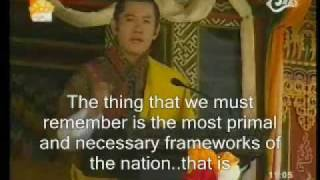 BHUTAN:ADDRESS TO THE NATION BY HIS MAJESTY JIGME K.N.W 1/2