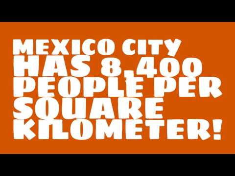 What is the land area of Mexico City?