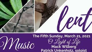 Music, Lent V, March 21, 2021