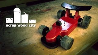 Wooden Diy Formula Car Toy
