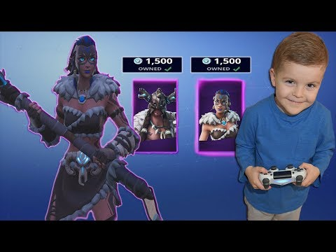*5 YEAR OLD KID* Spending 3000+ V-Bucks NEW EPIC Outfits! & Completing Fortnite Dance Challenge