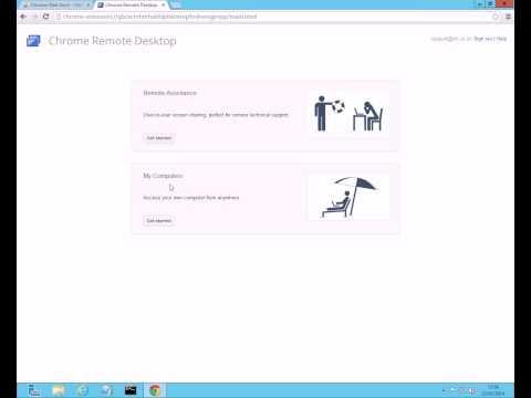 How to use Chrome Remote Desktop (Alternative to LogMeIn