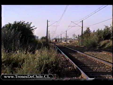 Pasadas de trenes al norte de Rancagua 03/03/1996 (Carguero con D-18001, AEL, AEZ, AM-23, E-30, E32)