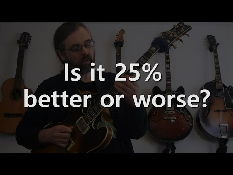 25% better or worse - Jazz Guitar Solo on the jazz waltz Bluesette