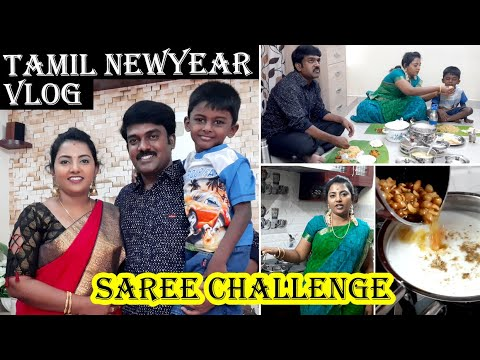 Tamil Newyear Full day Vlog | Full Day Routine Vlog | Saree Challenge | Karthikha Channel Routine