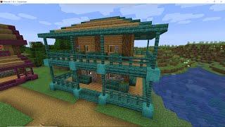 minecraft warped wood village storey makeover