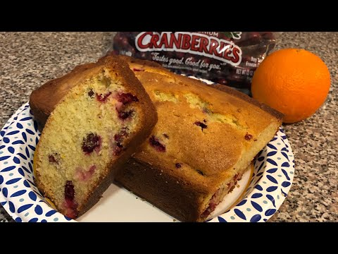 Cranberry Orange Loaf | Fall Inspired Cooking