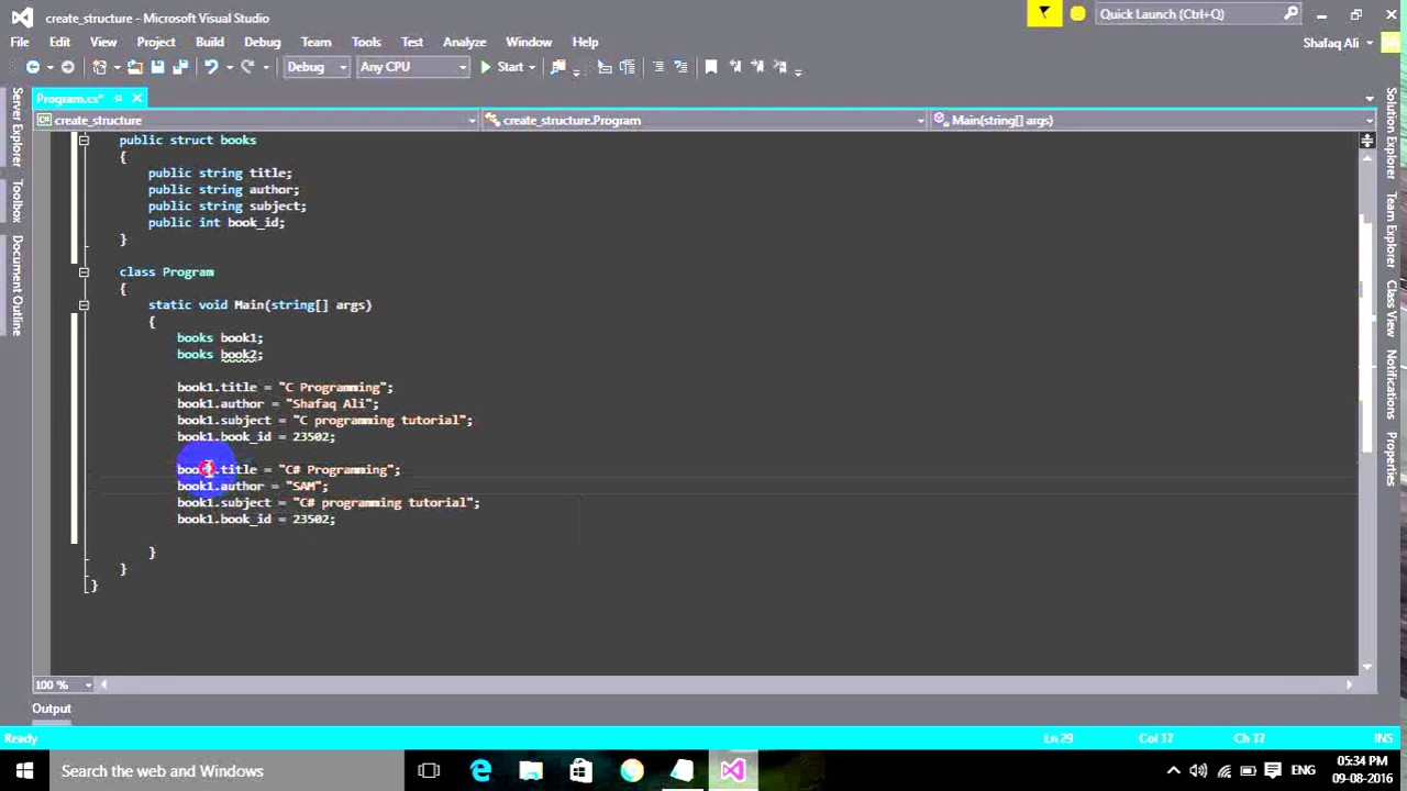 How to create structure in c ezoom tutorials point youtube how to create structure in c ezoom tutorials point baditri Choice Image
