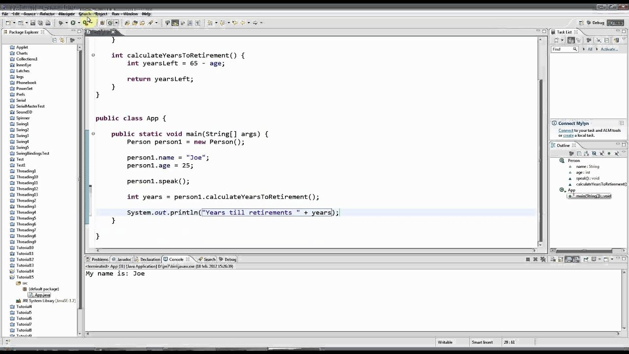 Learn Java Tutorial for Beginners, Part 15: Getters and