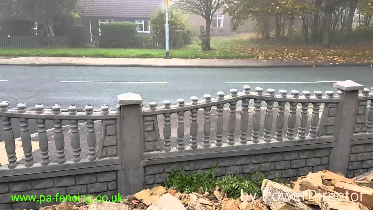 Pa fencing decorative concrete fence panels uk youtube baanklon Gallery