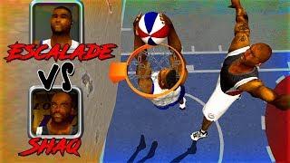 ESCALADE vs SHAQUILLE O'NEAL 1 on 1 NBA Live 2003
