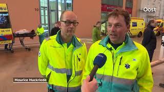 Hulpdiensten grensregio houden samen met Duitse collega's een calamiteitenoefening in Münster