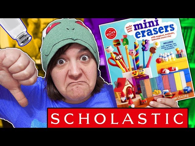 DONT BUY! 13 REASONS WHY  MINI ERASERS KIT KLUTZ SCHOLASTIC is NOT worth it SaltEcrafter #52