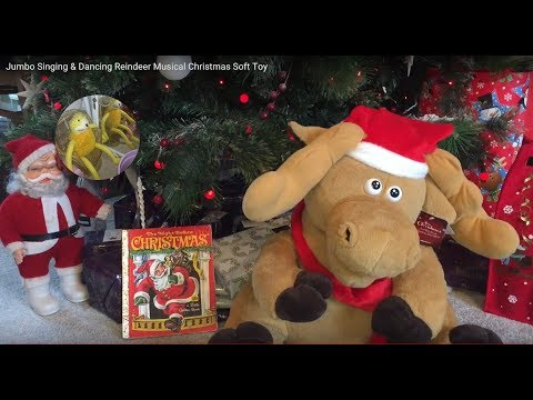 Jumbo Singing & Dancing Reindeer Musical Christmas Soft Toy