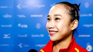 Fan Yilin (CHN) Interview - 2017 World Championships - Uneven Bars Final