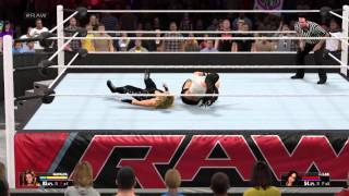 WWE 2K15 AJ Lee vs Natalya Submission Match