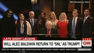 SNL finale Baldwin leads the WH staff Hallelujah while Trump is saying Hallelujah the Show's ending.