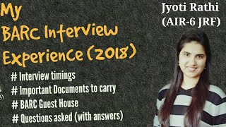 BARC Interview experience|BARC interview questions| BARC exam preparation|BARC interview chemistry