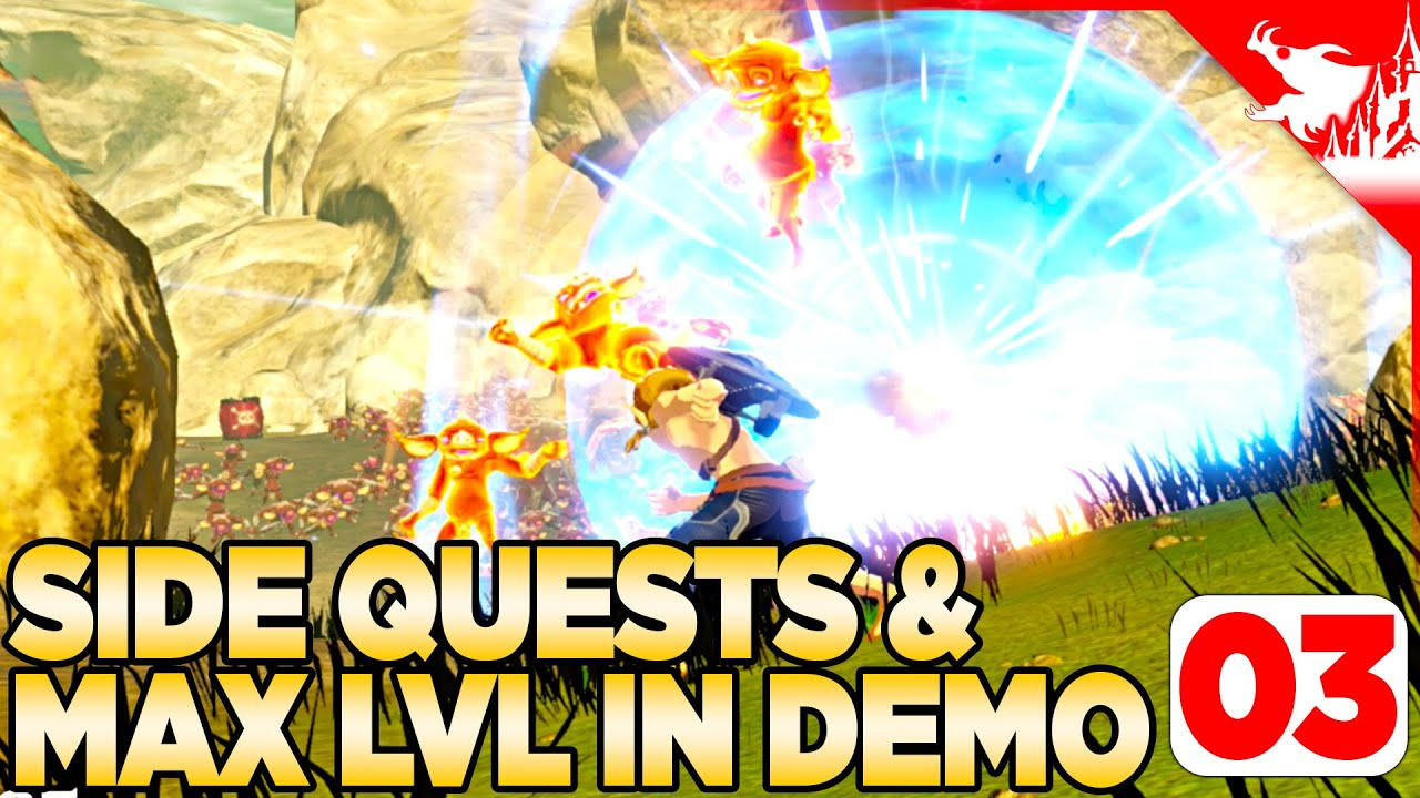 Side Quests Max Level Hyrule Warriors Age Of Calamity Walkthrough 03 Demo Youtube