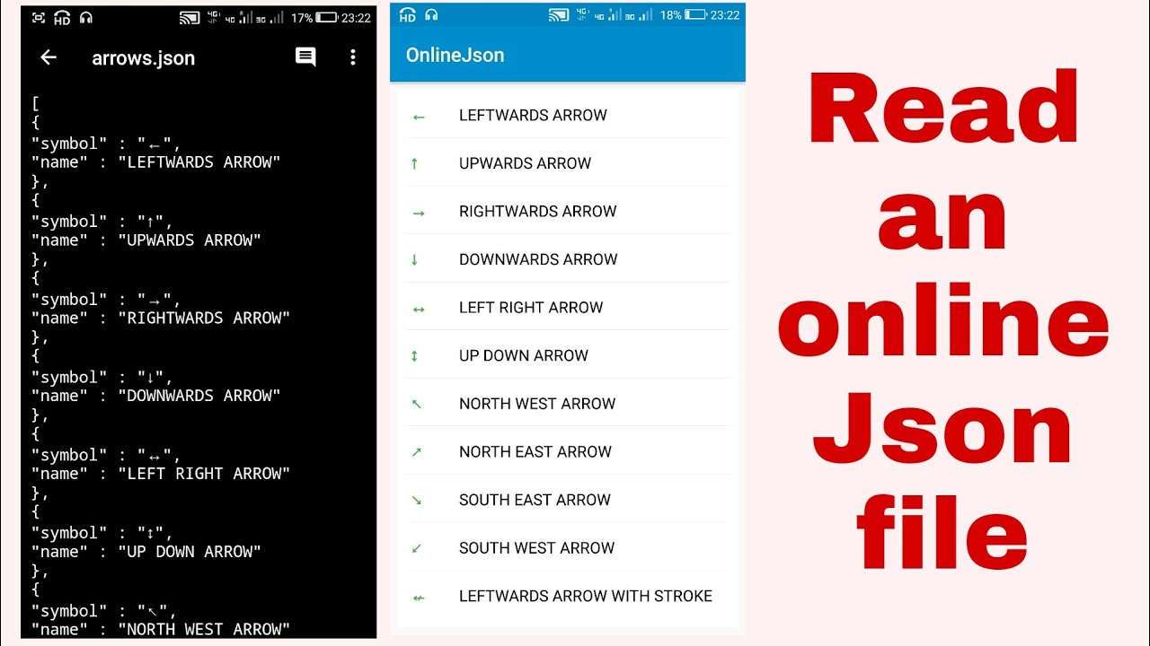 Display online Json file in a ListView in Sketchware