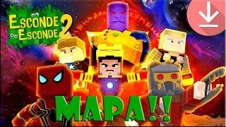 💥 VINGADORES - Guerra infinita - Mapa Minecraft / Esconde-Esconde 2  [Download]