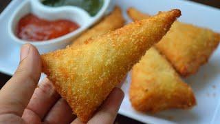 BREAD CONE SAMOSA || Chicken Samosa by (YES I CAN COOK) #Samosa #BreadRoll #BreadSamosa #ConeSamosa