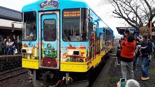 チャギントン、列車お披露目 長良川鉄道