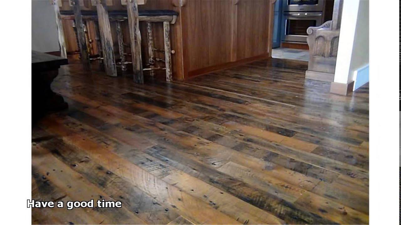 reclaimed wood floors - Reclaimed Wood Floors - YouTube