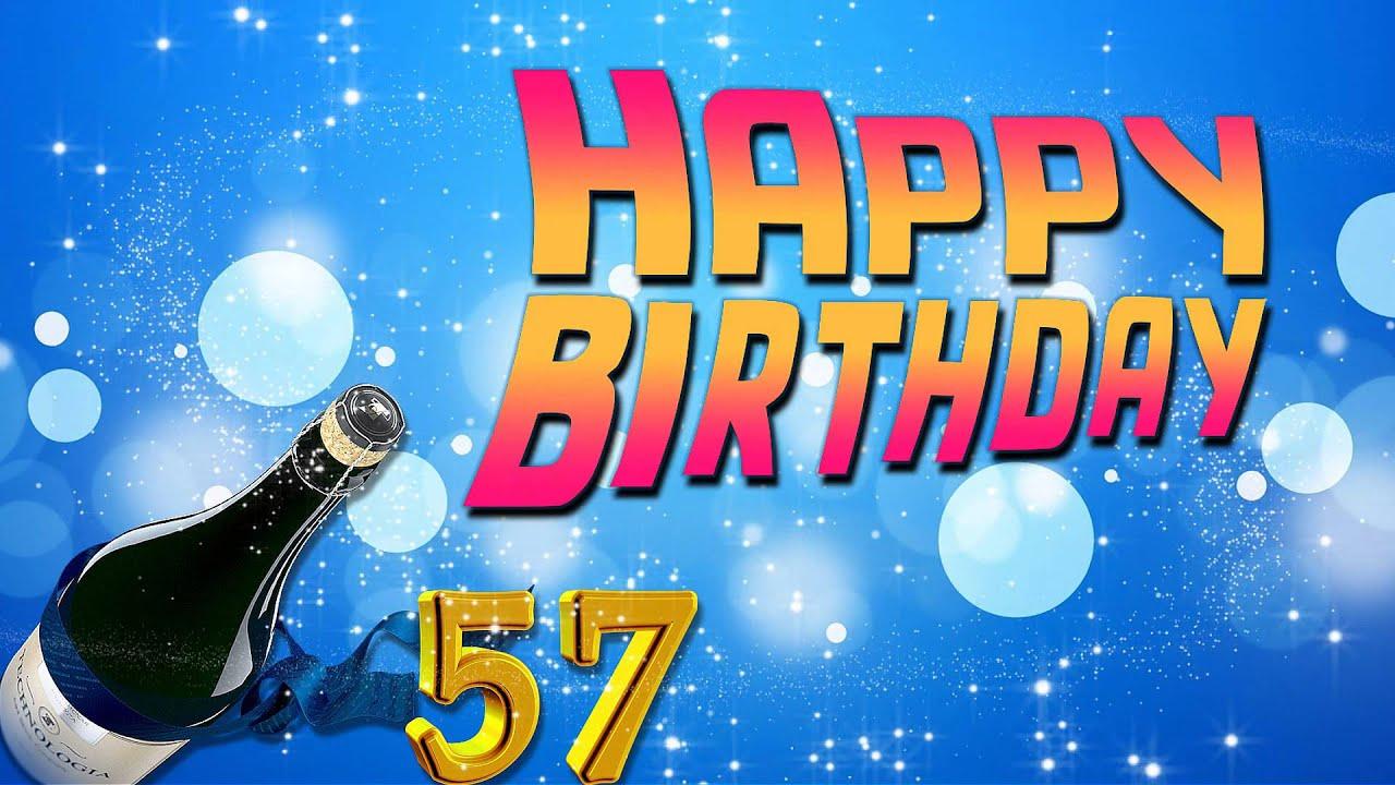 Поздравления с днем рождения к 57 лет