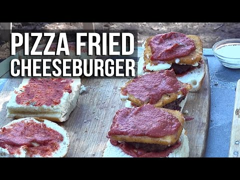 Pizza Fried Cheese Burger