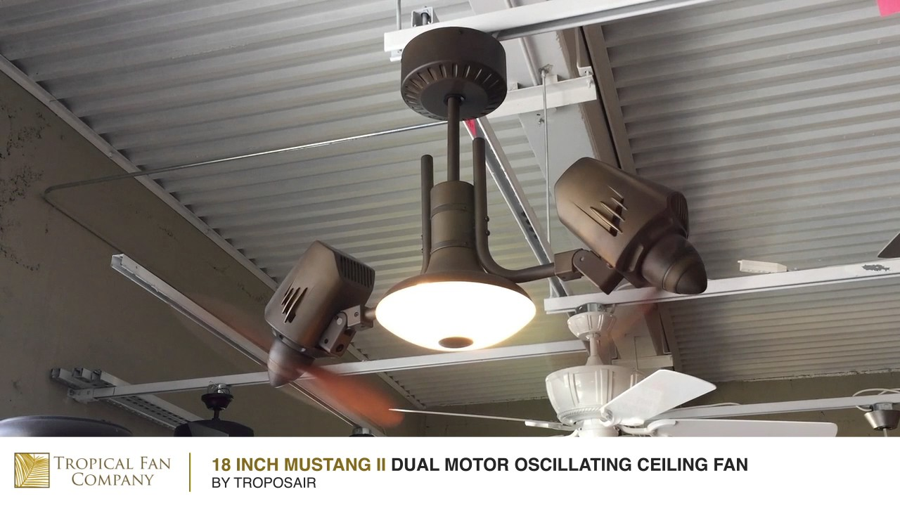 Mustang Ii Dual Motor Oscillating Ceiling Fan By Troposair