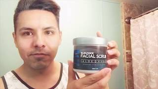 Elegance Face Scrub And Black Mask: Full At Home Facial Routine