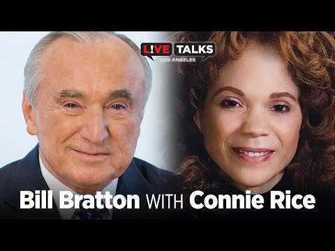 Bill Bratton in conversation with Connie Rice at Live Talks Los Angeles