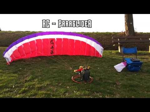 Matthias RC-Paraglider: Hacker RC FLAIR 4.5 + XXL Harness at Germans Spessart Slope