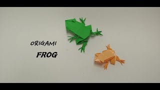 Origami Forg 개구리 종이접기 , 파충류, 양…