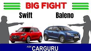 Swift vs Baleno कौन जीता ? Maruti Suzuki vs Maruti Suzuki, CARGURU ने क्लियर किया। Video