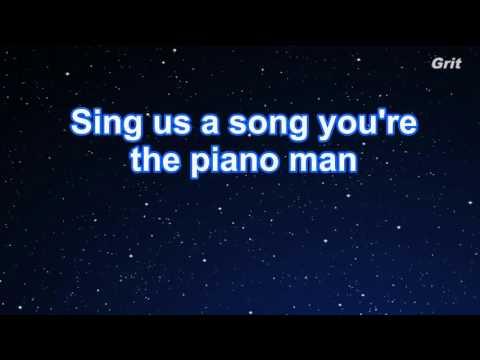 Piano Man - Billy Joel Karaoke【No Guide Melody】