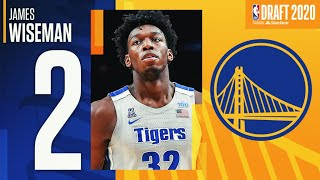 James Wiseman Is Selected #2 In the 2020 NBA Draft!