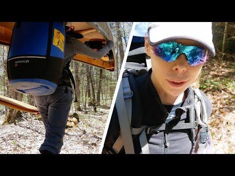 BIG ALGONQUIN CANOE TRIP - DAY 4 - THE GIANT PORTAGE! (4K)