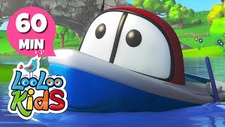 Row, Row, Row Your Boat - Learn English with Songs for Children | LooLoo Kids