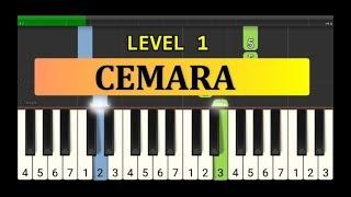 nada piano cemara - tutorial piano grade 1 - lagu anak anak indonesia - not pianika