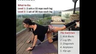 The Coachella 5 Minute Hip and Butt Workout