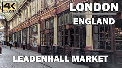 LONDON TOUR | Walking Around LeadenHall Market [4K]
