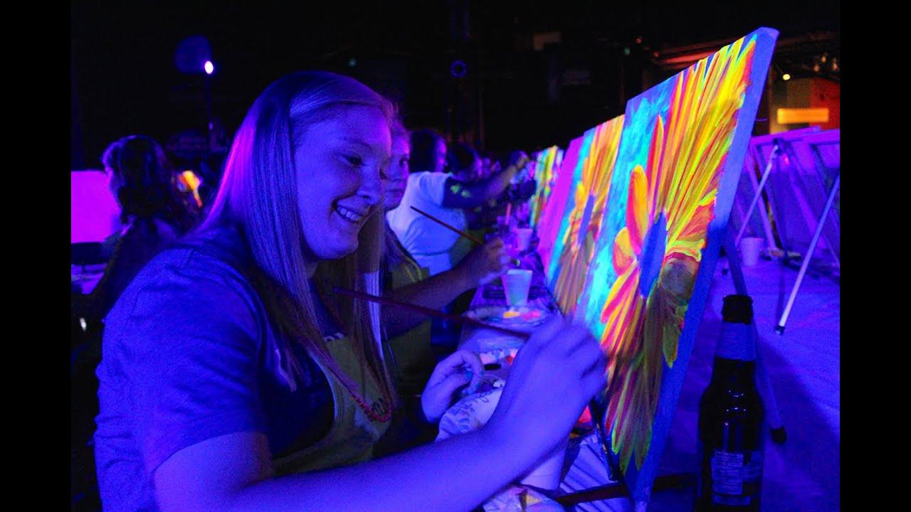 Paint Nite Black Light Painting Party
