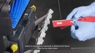 FIMOP: sostituzione gomme tergipavimento - squeegee rubber blades replacement