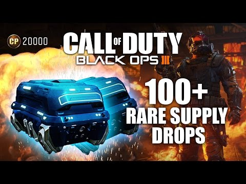 Call of Duty: Black Ops 3 - BIGGEST 100+ RARE SUPPLY DROP OPENING!  (Black Ops 3 Supply Drops)