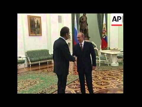 Newly-inaugurated president meets Putin