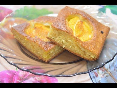 Простой пирог с абрикосами./A cake with apricots.