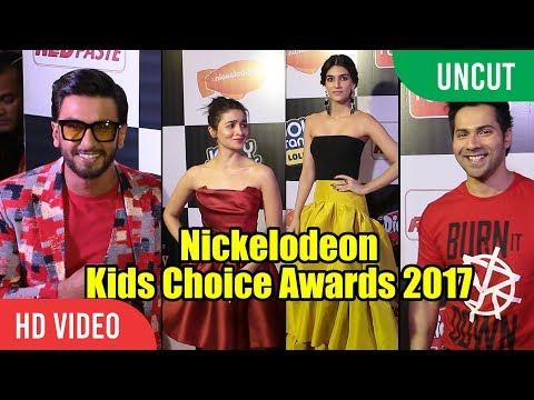 UNCUT - Nickelodeon Kids Choice Awards 2017   Ranveer Singh, Alia Bhatt, Varun Dhawan, Rohit Shetty